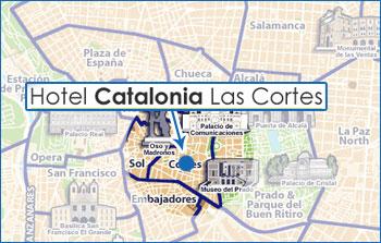 Plano de acceso de Hotel Catalonia Las Cortes