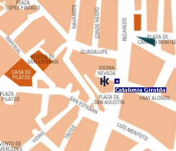 Plano de acceso de Hotel Catalonia Giralda