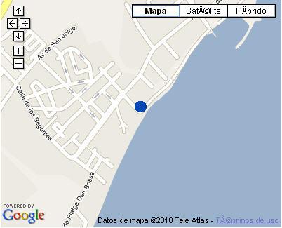 Plano de acceso de Hotel Algarb