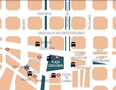 Plano de acceso de Hotel Catalonia Ramblas
