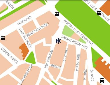 Plano de acceso de Hotel Catalonia Princesa