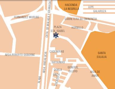 Plano de acceso de Hotel Catalonia Hispalis