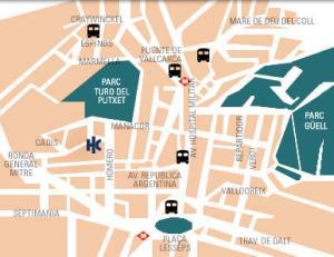 Plano de acceso de Hotel Catalonia Park Putxet