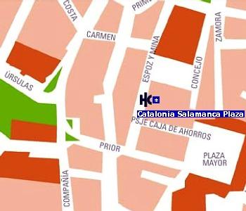Plano de acceso de Hotel Catalonia Salamanca