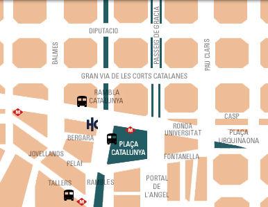 Plano de acceso de Hotel Catalonia Duques D Bergara