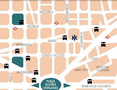 Plano de acceso de Hotel Catalonia Aragon