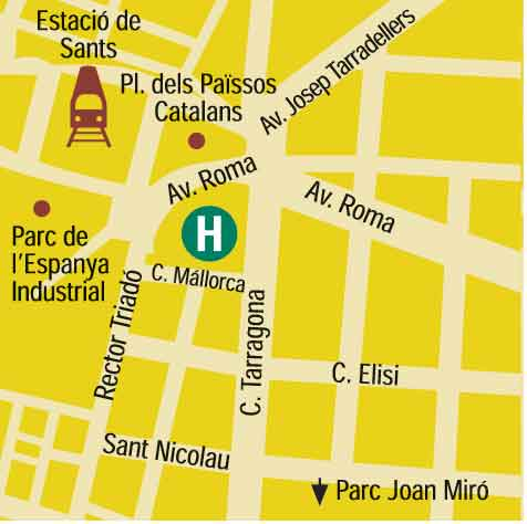 Plano de acceso de Hotel Expo Executive