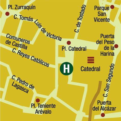 Plano de acceso de Hotel Palacio Valderrabanos