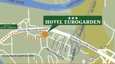 Plano de acceso de Hotel Eurogarden