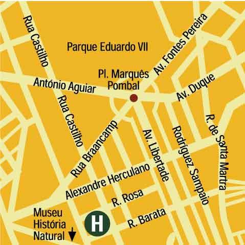 Plano de acceso de Hotel Altis
