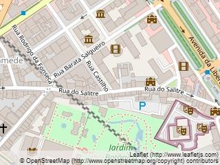 Plano de acceso de Hotel Eurostars Das Letras