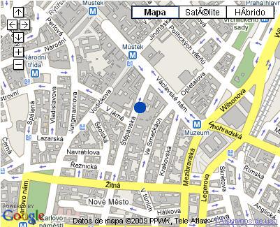 Plano de acceso de Radisson Sas Alcron Hotel