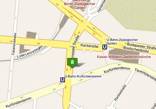Plano de acceso de Hotel Belmondo Am Kurfurstendamm