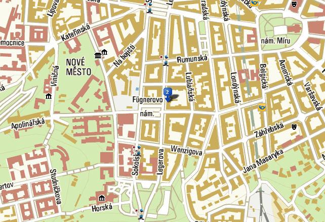 Plano de acceso de Prague Centre Hotel