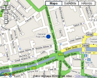 Plano de acceso de Westin Hotel Dublin
