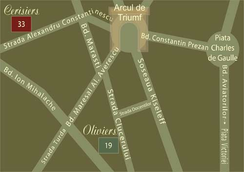 Plano de acceso de Hotel Residence Domenii Plaza