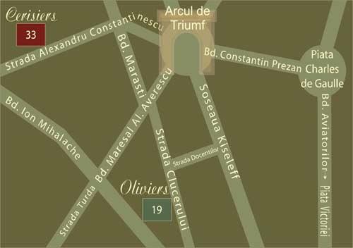 Plano de acceso de Hotel Residence Arc De Triomphe