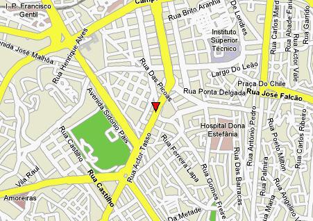Plano de acceso de Sheraton Lisboa Hotel And Spa
