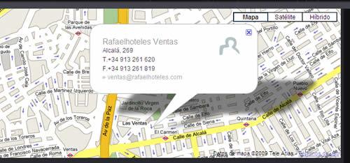 Plano de acceso de Rafael Hoteles Ventas