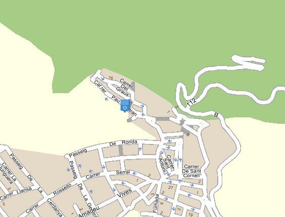 Plano de acceso de Hotel Eada Montserrat