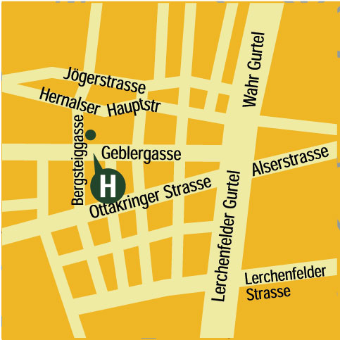 Plano de acceso de Hotel Mate Dependance