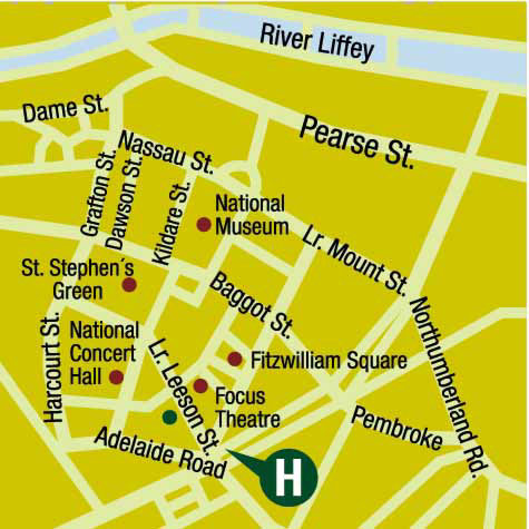 Plano de acceso de Hotel The Leeson Inn Downtown
