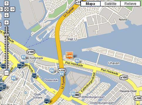 Plano de acceso de Hotel Movenpick Amsterdam City Center