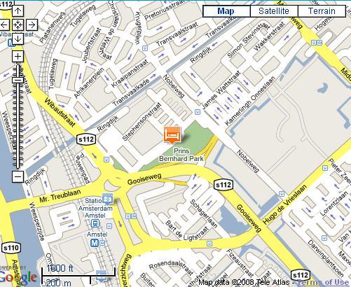 Plano de acceso de Casa 400 Hotel