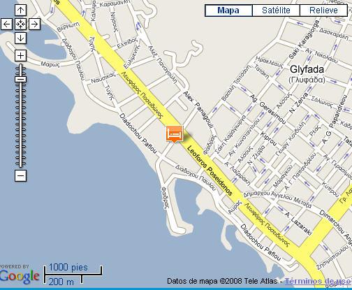 Plano de acceso de Palmyra Beach Hotel