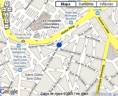 Plano de acceso de Hotel Cascade Louise