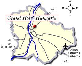 Plano de acceso de Best Western Hotel Hungaria