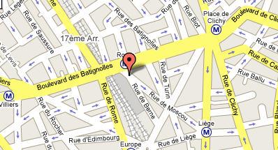 Plano de acceso de Berne Opera Hotel