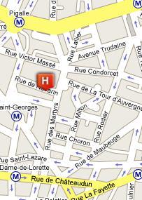 Plano de acceso de My Hotel In France Opera St Georges