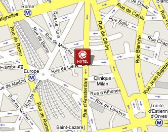 Plano de acceso de Europe Liege Hotel