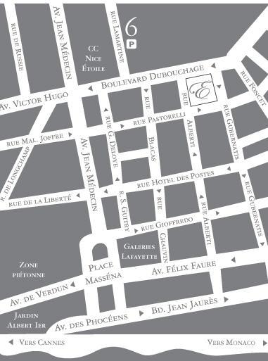Plano de acceso de Ellington Hotel