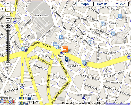 Plano de acceso de Hotel Le Chat Noir