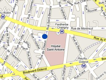 Plano de acceso de Color Design Hotel (Ex.Relais De Paris Lyon Bastille)