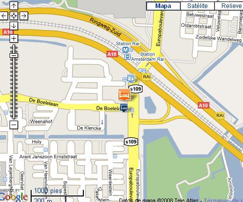 Plano de acceso de Hotel Holiday Inn Amsterdam