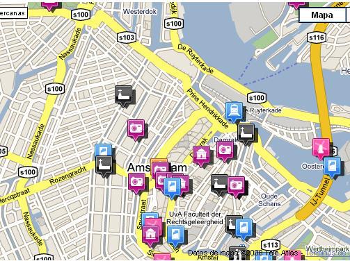Plano de acceso de Die Port Van Cleve Hotel