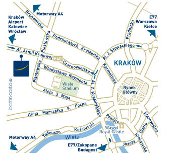 Plano de acceso de Novotel Bronowice Hotel