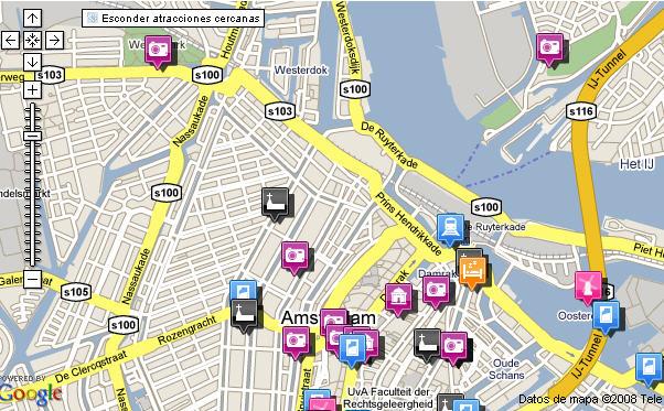 Plano de acceso de France Hotel Amsterdam