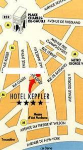 Plano de acceso de Keppler Hotel