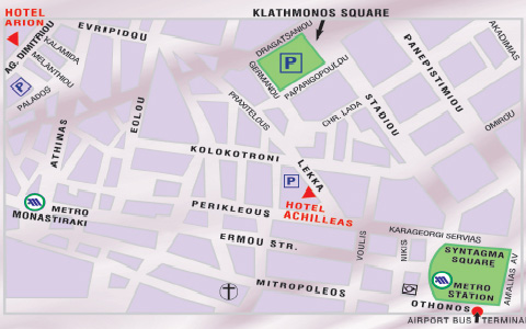 Plano de acceso de Arion Hotel