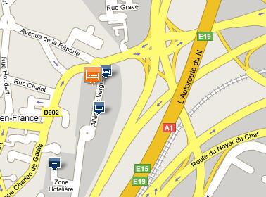 Plano de acceso de Millennium Hotel Paris Charles De Gaulle