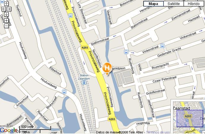 Plano de acceso de Inntel Hotel Amsterdam - Zaandam (Formerly Golden Tulip)