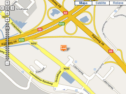 Plano de acceso de Hotel Ibis Amsterdam Airport