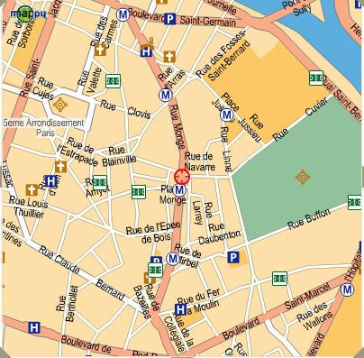 Plano de acceso de Hotel Best Western Quartier Latin Pantheon