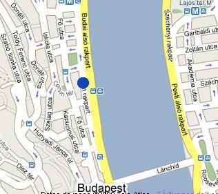 Plano de acceso de Hotel Art'otel Budapest