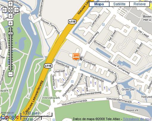 Plano de acceso de Hotel Bastion Amsterdam Centrum Noord