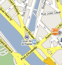 Plano de acceso de Timhotel Paris Gare De Lyon
